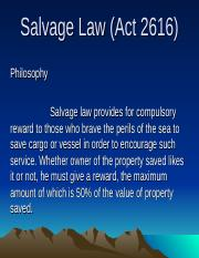Salvage Law (Act 2616).ppt