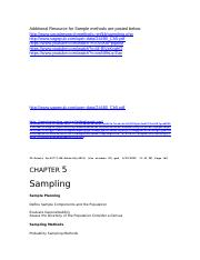 Additional Resource for Sample methods-Ch5