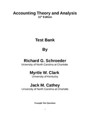 Chap 1 Test Bank for Financial Accounting Theory and Analysis Text and Cases, 11th Edition
