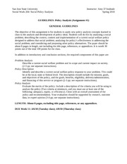 GUIDELINES - Policy Paper (General)