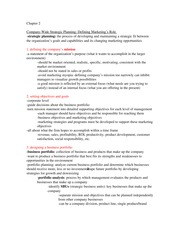 marketing chapter 2 notes