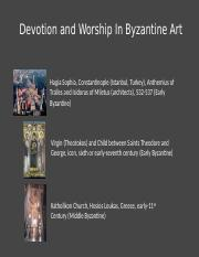 03.23 - Devotion and Worship In Byzantine Art