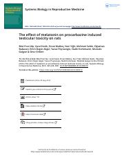 The effect of melatonin on procarbazine induced testicular toxicity on rats.pdf