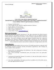 Syllabus Fundementals of Buisness Law 2013-2014