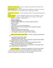 Standardized marketing mix notes