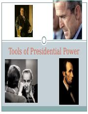 President 1.3 -- Tools of Presidential Power.ppt