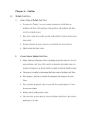 Financial Management-Chapter 6 Outline