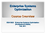 EGN_5623 SCM Overview Introduction