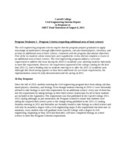 CE Program Interim Report
