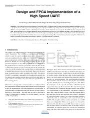 4 CONCLUSION In this paper UART with configurable baud rates