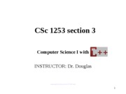 CSC 1253 - Introduction to Computers