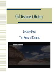 Lecture 4 The Book of Exodus