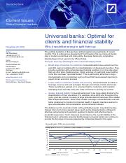 Universal banks Optimal for clients and financial (Deutsche Bank)