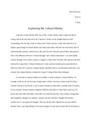 cultural identity paper