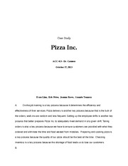 Pizza Inc. Case Study