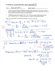 Actuarial Science 2053 Quiz 1