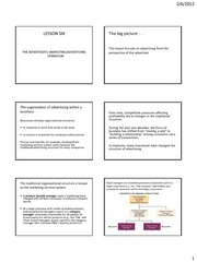PRINTABLE LESSON 6 - The advertiser%27s marketing and advertising operation