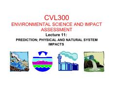 2015 CVL300 Presentation 11 - PREDICTION; PHYSICAL AND NATURAL SYSTEM IMPACTS