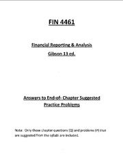 FIN 4461 answers