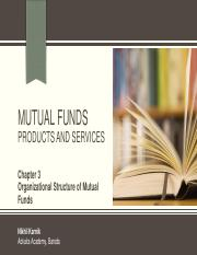 Unit 2 - MFs - Chapter 3 - Organizational Structure of Mutual Funds.pdf
