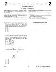 mathematics test 60 minutes 60 questions ACT µ¦G2006-O6 -Form 63F-2 - MATHEMATICS TEST 60 Minutes-60 ...