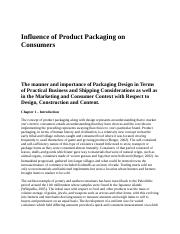 Influence of Product Packaging on Consumers.docx
