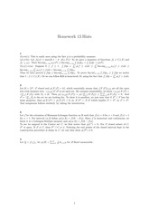 Homework 13 Solution on Real Analysis Fall 2014