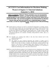 Chapter 3 Tutorial Solutions (Discussed in Week 4 Tutorial)