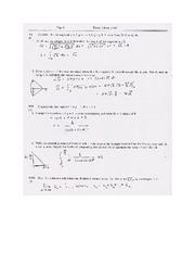 Exam A Solutions on Calculus Page 3