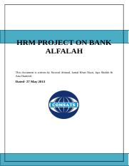 HRM PROJECT ON BANK ALFALAH.docx