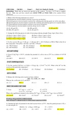 CHM2046 EXAM 3A SOLUTIONS