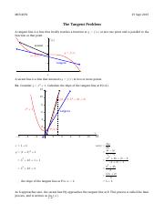 01 The Tangent Problem