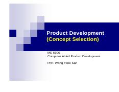 Lecture 6 -PD (Concept Selection)
