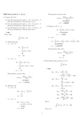 Exam 3 Study Guide Solution Spring 2010 on Engineering Mathematics III (Numerical Methods)