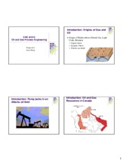 Lecture 1 Introduction and Chemicals in Petroleum and Bitumen for Oil and Gas Processing
