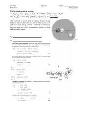 CE 202 Quiz 8 Solution