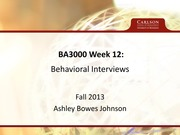 Lecture 12 Notes, Behavioral Interviews