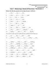 U7 WS 2 (1).doc - Name Date Pd Unit 7 Balancing Chemical ...