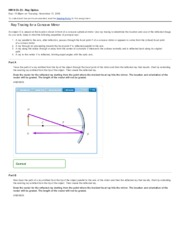 Mastering Physics HW 9 Ch 23 - Ray Optics