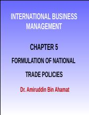 W-4-Formulation of National Trade Policies.ppt