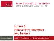 Lecture 3 - Productivity, Innovation & Strategy