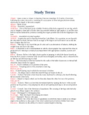 Study Terms