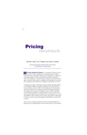 8. Pricing new Product