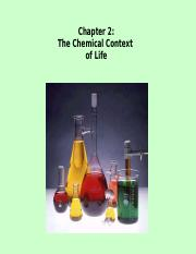 Chapter 2  The Chemical Context of Life - SE 2