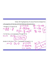 Writing Equations and Func Composition AK