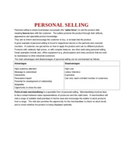 an introduction to personal selling