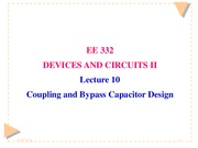 Lecture 10 Coupling and Bypass Design