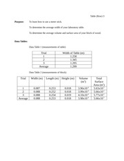 physics lab 3 Measurement of Length