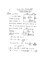 ECSE 210 2007 Final Exam Solutions