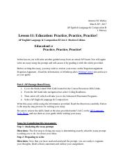 ENGLISH LANGUAGE AND COMPOSITION FREE-RESPONSE QUESTIONS